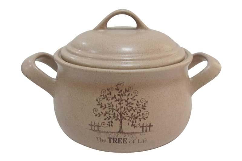Дерево жизни Горшочек с ручками и крышкой Terracotta из Китая