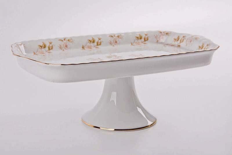Цветы Рельеф золото Рулетница Bavarian Porcelain 30 см