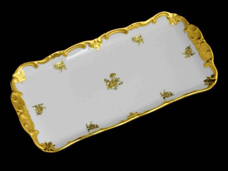 Роза золотая Рулетница Weimar Porzellan 26 см