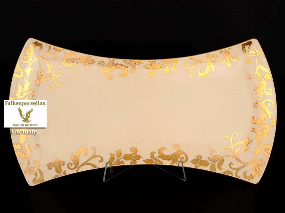Блюдо 45 см Tosca Creme Gold FalkenPorzellan