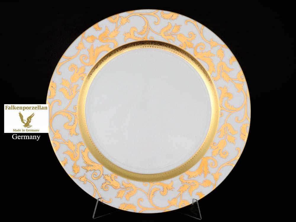Блюдо круглое 32 см Tosca Creme Gold Falkenporzellan