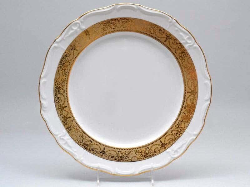 Блюдо круглое 30 см Мария Луиза Матовая полоса Carlsbad