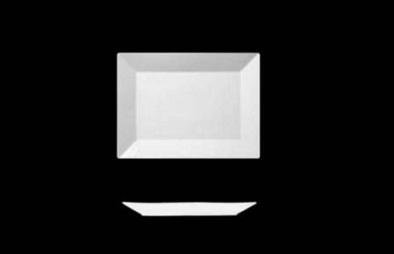 Фьюжн Блюдо прямоугольное Леандер 21х11 см из фарфора