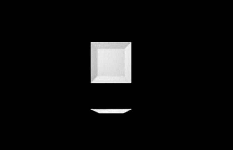 Тарелка квадратная 9см Фьюжн