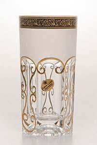 Провенза блэк фон Набор стаканов для воды Astra Gold 370 мл