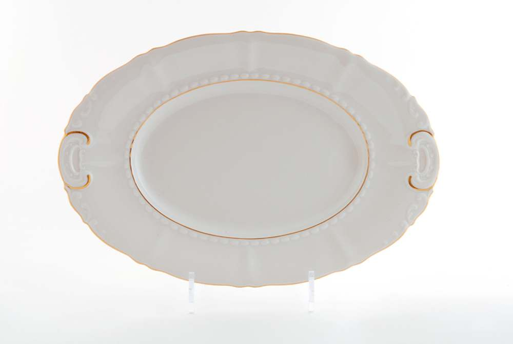 Блюдо овальное  32см Соната Отводка золото