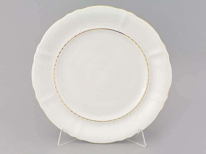 Блюдо круглое мелкое 32см Соната Отводка золото