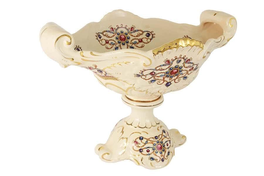 Ваза на ножке декоративная Рубин Babyzon Dynasty Китай