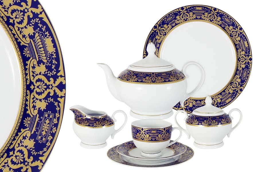 Чайный сервиз  42 предмета на 12 персон Вайден (кобальт)