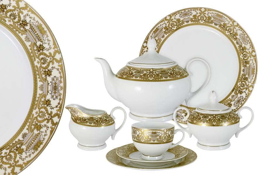 Чайный сервиз  42 предмета на 12 персон Вайден (кремовый)