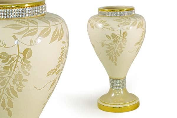 Декоративная ваза   Глициния кремовая Delta  Италия