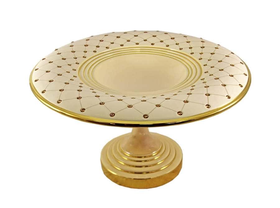 Блюдо декоративное Murano Cream Gold Delta Италия