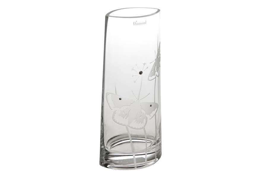 Ваза для цветов Бабочки 27 см Deco Glass  Польша