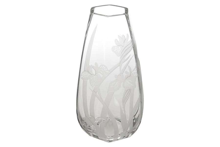 Ваза для цветов Ирисы  30 см Deco Glass Польша