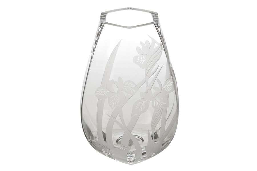 Ваза для цветов Ирисы 25см Deco Glass Польша