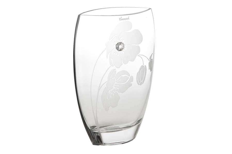 Ваза для цветов Маки 30см Deco Glass Польша