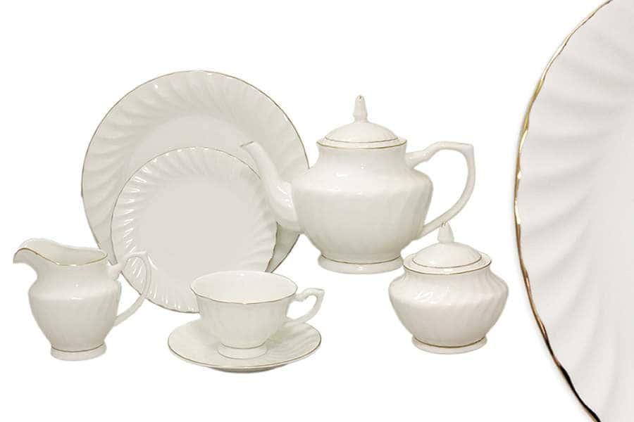 Чайный сервиз 40 предметов на 12 персон Волна Голд