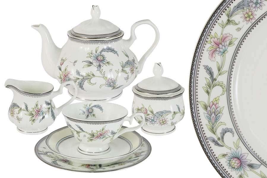Чайный сервиз 21 предмет на 6 персон Сад цветов