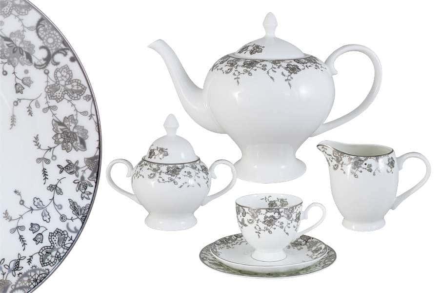 Чайный сервиз 21 предмет на 6 персон  Эстель