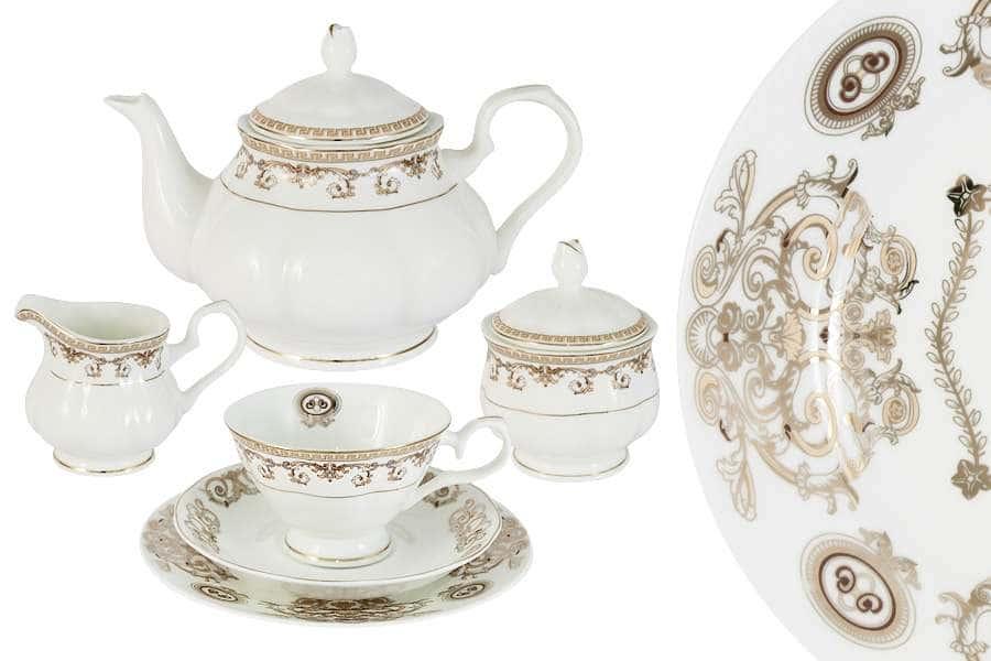 Чайный сервиз 21 предмет на 6 персон Версаче Золотой
