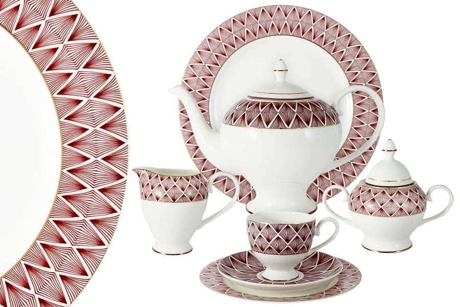 Чайный сервиз  40 предметов на 12 персон Фортуна Китай  Emily