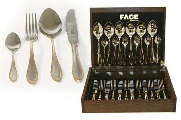 Набор столовых приборов 24 предмета на 6 персон Geneva в деревянной коробке.