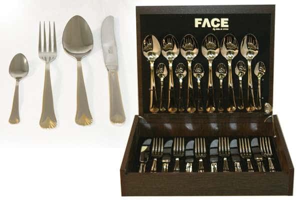 Набор столовых приборов 24 предмета на 6 персон London в деревянной коробке.