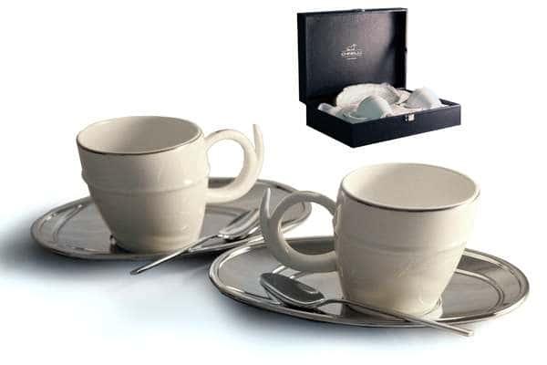 Чайный набор на 2 персоны Ричоло (серебро)