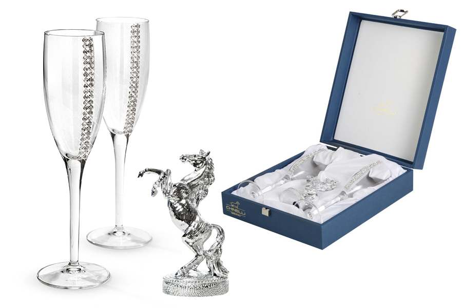 Набор из 2-х бокалов для шампанского Регина Сваровски
