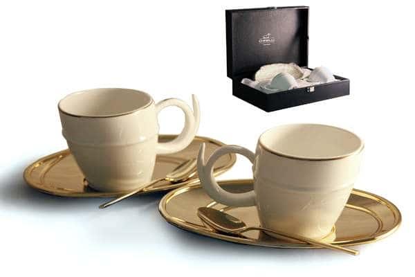 Чайный набор на 2 персоны Ричоло (золото)