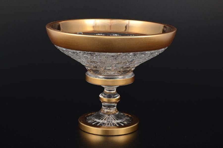 Конфетница 20 см Sonne Crystal Золото