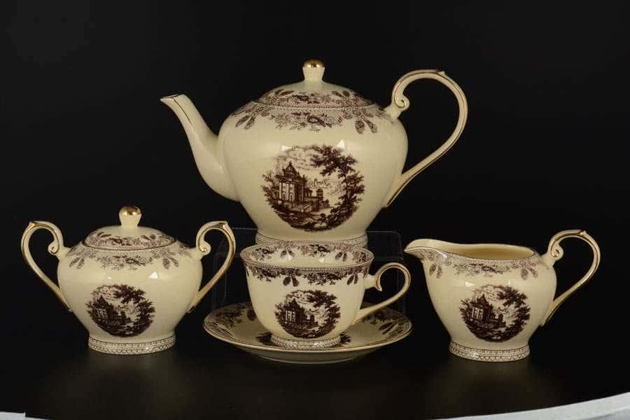 Ностальгия Сервиз чайный Royal Classics 15 пр слоновая  кость