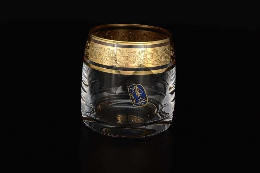 Идеал Золото V-D Набор стаканов для виски 230 мл Bohemia Crystal