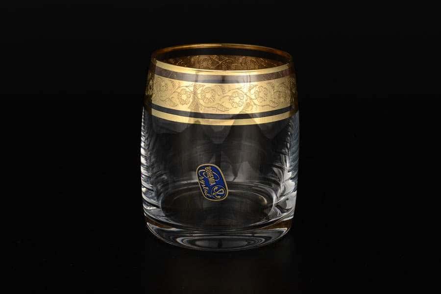 Идеал Золото V-D Набор стаканов для виски 290 мл Bohemia Crystal