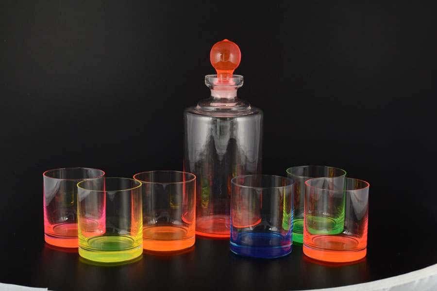 Набор для виски 7 предметов Неон Bohemia Crystal