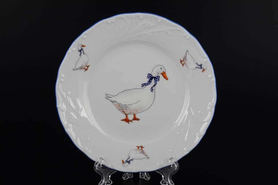 Лиана Гуси Набор тарелок MZ 17 см из фарфора