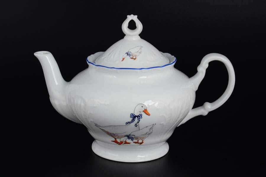 Лиана Гуси Чайник Starorolski Porcelain MZ 1,2 л