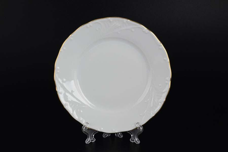 Лиана Белый узор Набор тарелок MZ 17 см