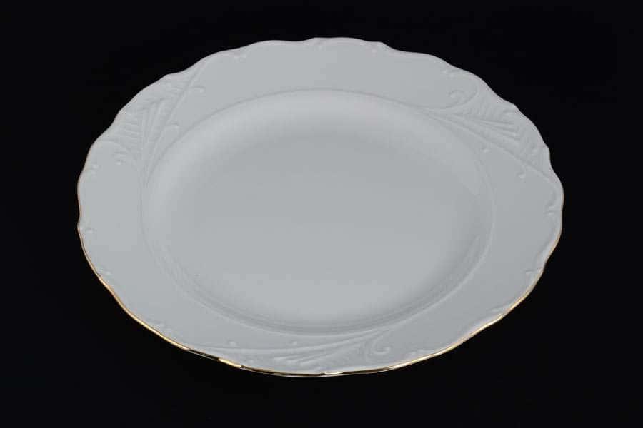 Блюдо круглое 30 см Лиана Белый узор MZ
