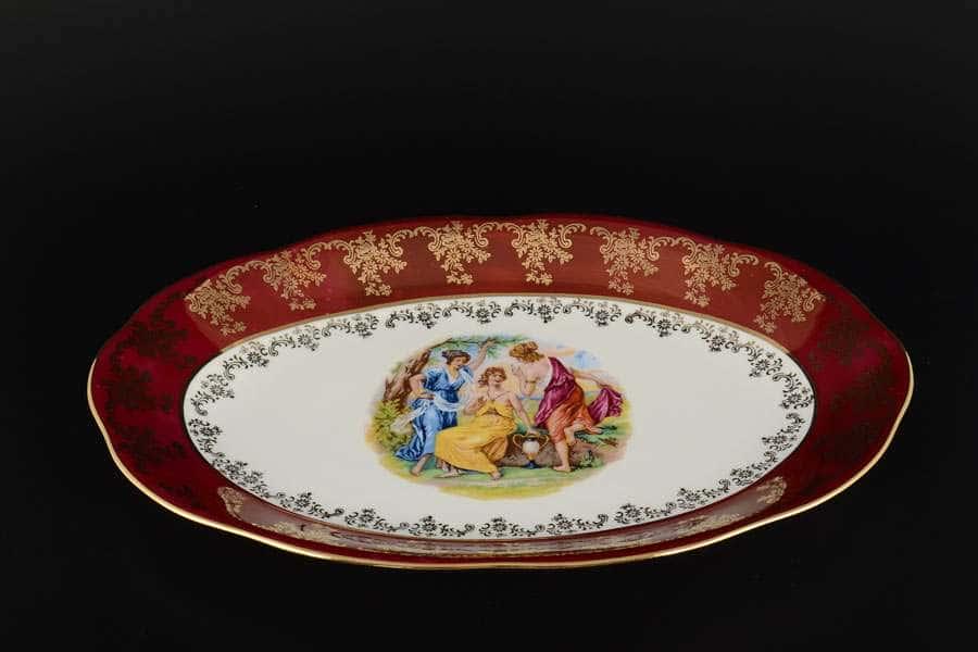 Блюдо овальное 32 см Красная Мадонна Royal Porcelain