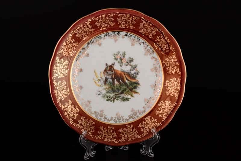 Царская Красная Охота Набор тарелок Royal Porcelain 21 см