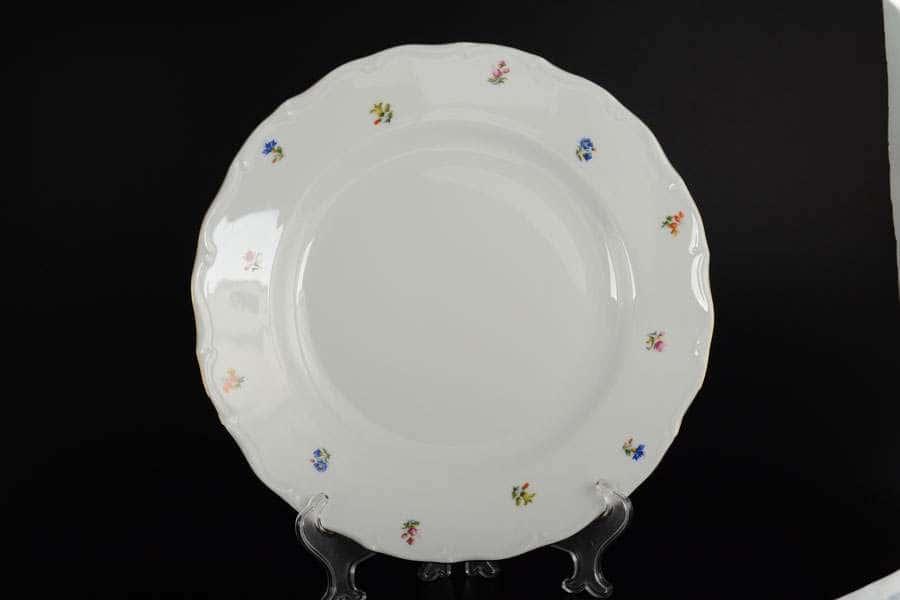 Блюдо круглое 30 см Офелия Мелкие цветы отводка золото MZ