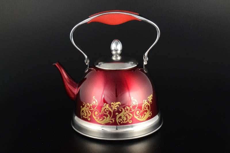Чайник 1.5 л красный Royal Classics из нержавеющей стали