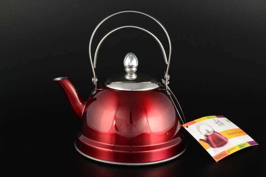 Чайник красный Royal Classics 0,7 л из нержавеющей стали