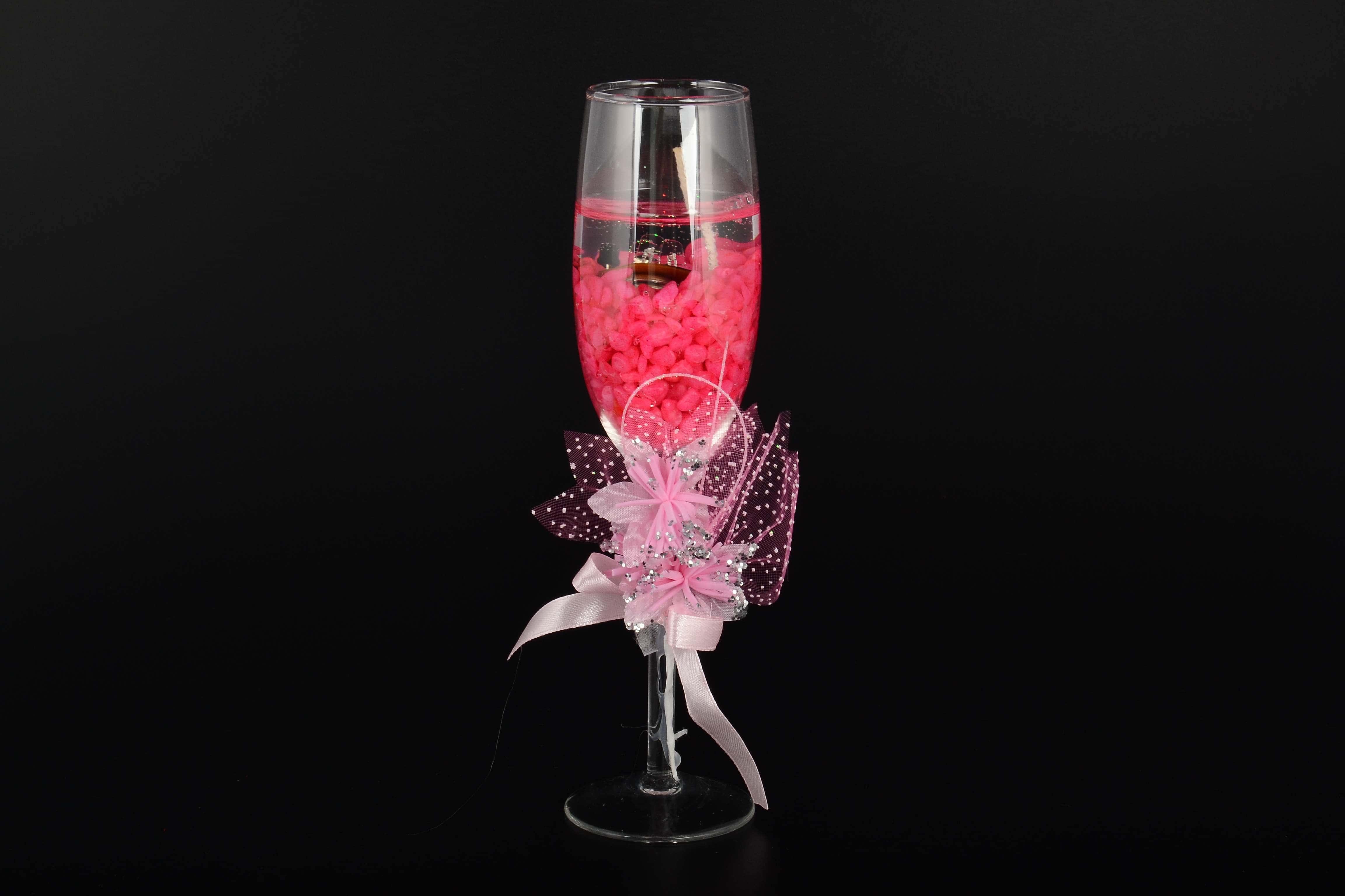 Бокал для шампанского красный с подсветкой Royal Classics