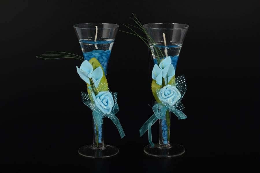 Бокал с подсветкой набор из 2 шт синий Royal Classics