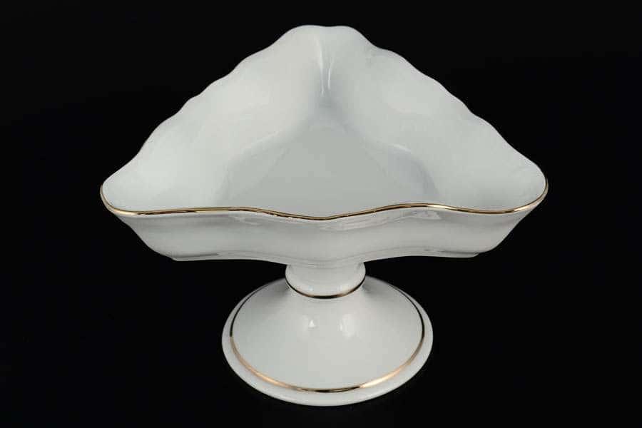 Белый узор Корона Салатник треугольный QC 19 см н/н