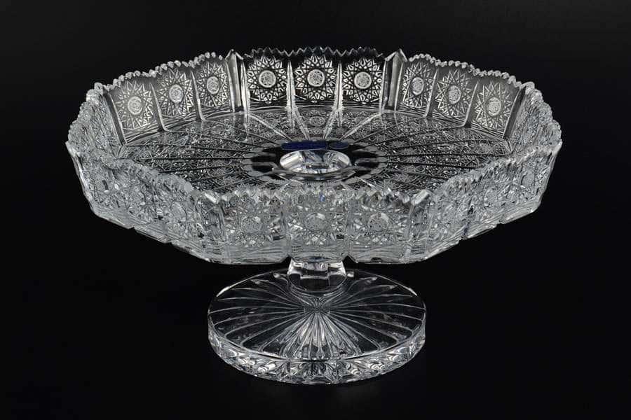 Фруктовница 30 см хрусталь Glasspo
