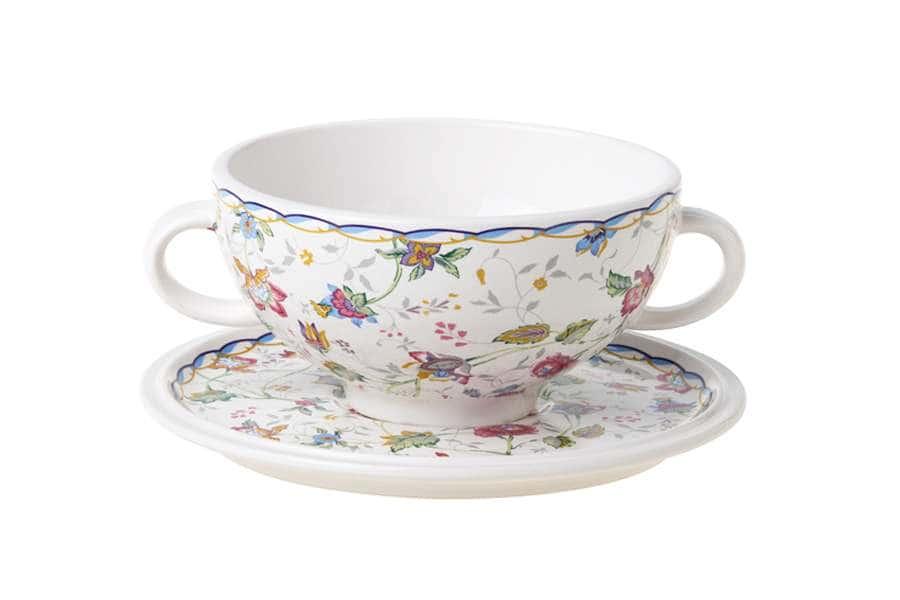 Суповая чашка на блюдце Букингем