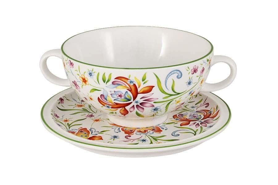 Суповая чашка на блюдце Аквитания